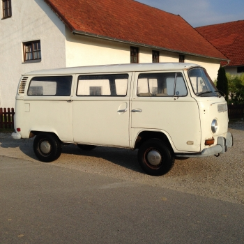 SOLD -  VW Bus T2ab 1972 weiß Kalifornien Import Patina