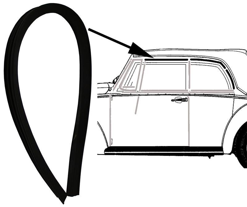 vw k fer cabriolet dichtung verdeckrahmen links oder. Black Bedroom Furniture Sets. Home Design Ideas